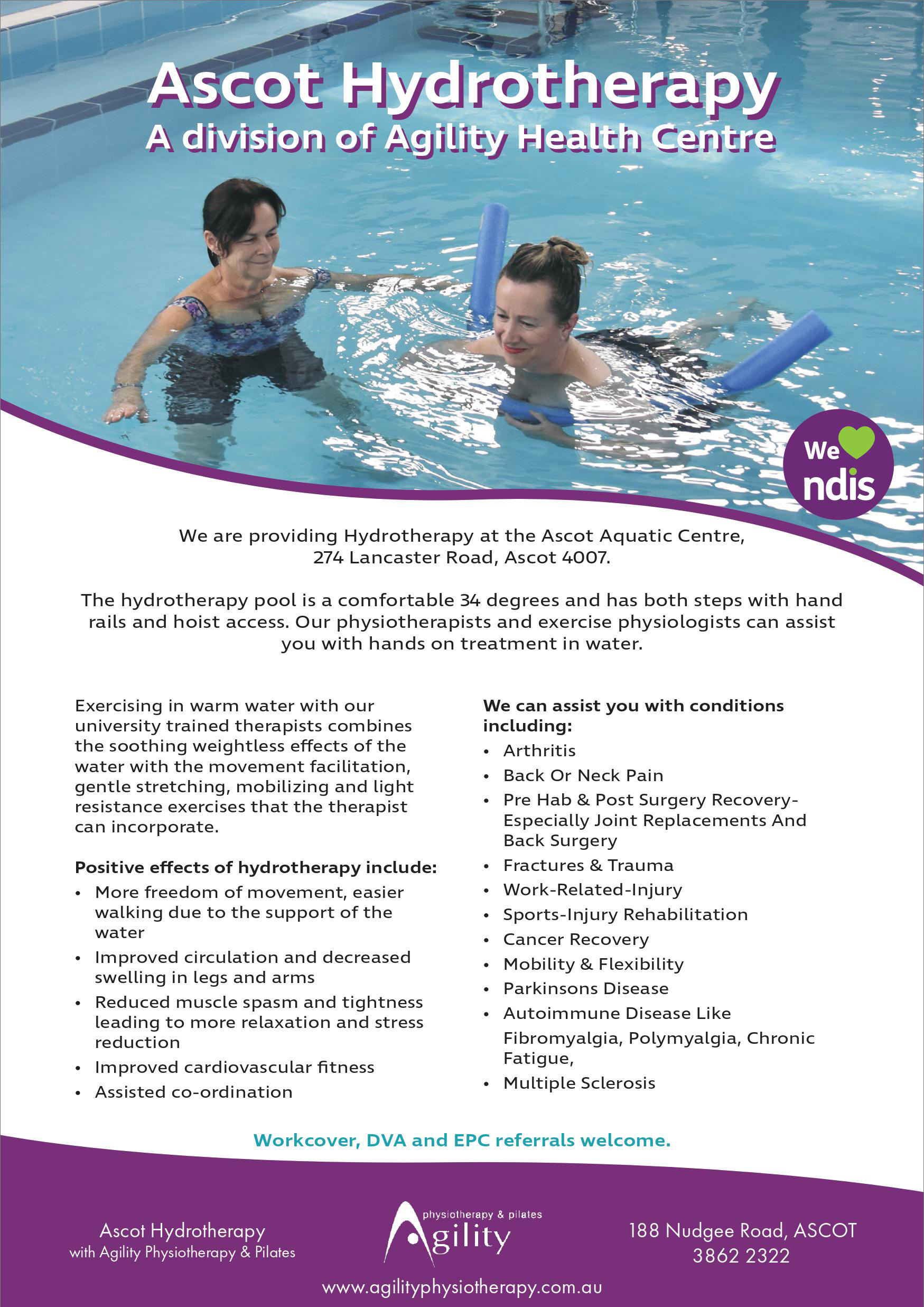 Ascot Hydrotherapy Flyer